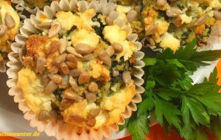Low Carb Muffins mit Spinat to go